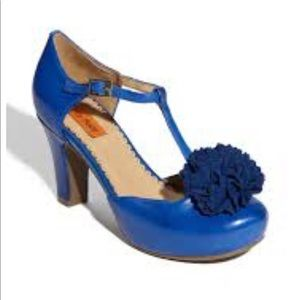 Mix Mooz T-Strap cobalt blue heels